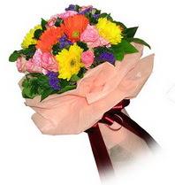 Bartın çiçekçi mağazası  Karisik mevsim çiçeklerinden demet