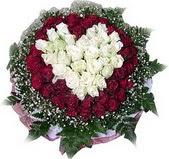 Bartın çiçek mağazası , çiçekçi adresleri  27 adet kirmizi ve beyaz gül sepet içinde