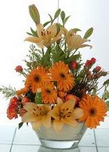 Bartın çiçek servisi , çiçekçi adresleri  cam yada mika vazo içinde karisik mevsim çiçekleri