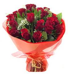 Bartın anneler günü çiçek yolla  11 adet kimizi gülün ihtisami buket modeli