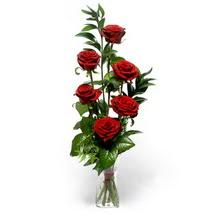 Bartın çiçek siparişi sitesi  cam yada mika vazo içerisinde 6 adet kirmizi gül