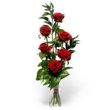 Bartın uluslararası çiçek gönderme  mika yada cam vazoda 6 adet essiz gül