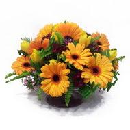 gerbera ve kir çiçek masa aranjmani  Bartın çiçek siparişi vermek