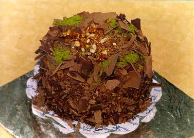 Çikolatali 4 ila 6 kisilik yas pasta  Bartın çiçek gönderme sitemiz güvenlidir