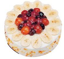 Meyvali 4 ile 6 kisilik yas pasta leziz  Bartın ucuz çiçek gönder