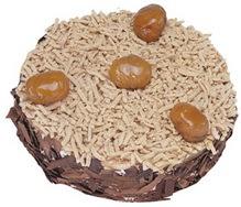 Kestahaneli yas pasta 4 ile 6 kisilik pasta  Bartın çiçek siparişi sitesi