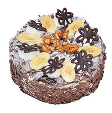 Muzlu çikolatali yas pasta 4 ile 6 kisilik   Bartın uluslararası çiçek gönderme