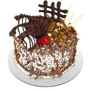 4 ile 6 kisilik çikolatali yas pasta  Bartın kaliteli taze ve ucuz çiçekler