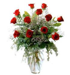 Vazo içerisinde 11 kirmizi gül  Bartın çiçek siparişi vermek