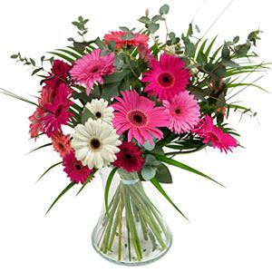 15 adet gerbera ve vazo çiçek tanzimi  Bartın online çiçek gönderme sipariş