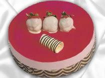 pasta siparisi 4 ile 6 kisilik yas pasta çilekli yaspasta  Bartın çiçek servisi , çiçekçi adresleri