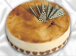 taze pasta 4 ile 6 kisilik yas pasta karamelli yaspasta  Bartın çiçekçiler