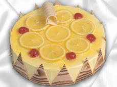 taze pastaci 4 ile 6 kisilik yas pasta limonlu yaspasta  Bartın online çiçek gönderme sipariş