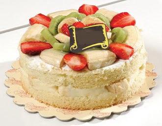 pasta siparisi 4 ile 6 kisilik karisik meyvali yas pasta  Bartın çiçek servisi , çiçekçi adresleri