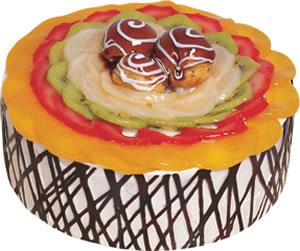 pasta siparisi 4 ile 6 kisilik meyvali yas pasta  Bartın çiçek satışı