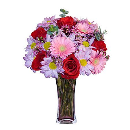 Görsel hediye karisik cam mevsim demeti  Bartın çiçekçi mağazası