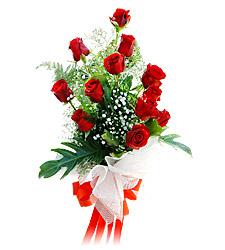 11 adet kirmizi güllerden görsel sölen buket  Bartın çiçek siparişi vermek