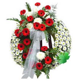 Cenaze çelengi cenaze çiçek modeli  Bartın uluslararası çiçek gönderme