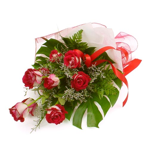 çiçek gönder 7 adet kirmizi gül buketi  Bartın kaliteli taze ve ucuz çiçekler
