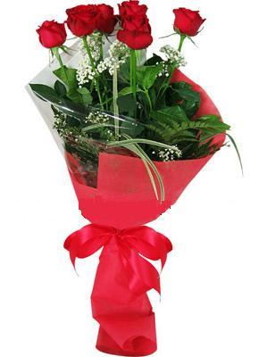 7 adet kirmizi gül buketi  Bartın çiçek yolla , çiçek gönder , çiçekçi