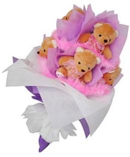 9 adet ayiciktan buket  Bartın hediye sevgilime hediye çiçek