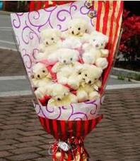 11 adet pelus ayicik buketi  Bartın ucuz çiçek gönder