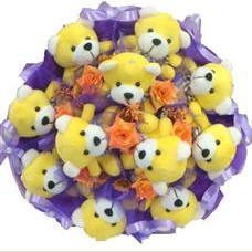 11 adet pelus ayicik buketi  Bartın çiçek mağazası , çiçekçi adresleri