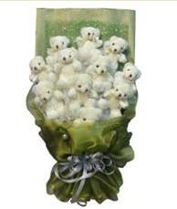 11 adet pelus ayicik buketi  Bartın online çiçek gönderme sipariş