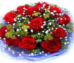 9 adet kirmizi güllerden buket  Bartın çiçekçi telefonları
