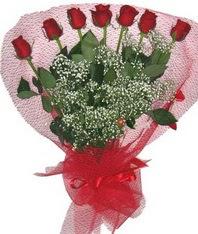 7 adet kipkirmizi gülden görsel buket  Bartın çiçek mağazası , çiçekçi adresleri
