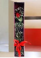 kutu içinde tek kirmizi gül  Bartın çiçek online çiçek siparişi