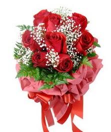9 adet en kaliteli gülden kirmizi buket  Bartın çiçek servisi , çiçekçi adresleri