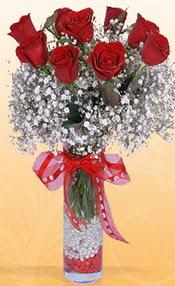 9 adet kirmizi gül cam yada mika vazoda  Bartın çiçek mağazası , çiçekçi adresleri