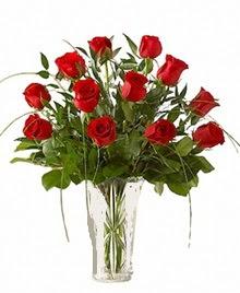 cam yada mika vazo içerisinde 9 kirmizi gül  Bartın çiçek siparişi sitesi