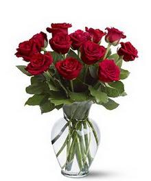 Bartın çiçek gönderme sitemiz güvenlidir  cam yada mika vazoda 10 kirmizi gül