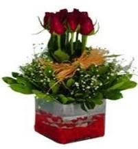 Bartın çiçek gönderme  7 adet mika yada cam vazoda gül tanzimi
