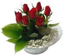 Bartın internetten çiçek satışı  cam yada mika içerisinde 5 adet kirmizi gül
