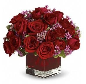 11 adet kırmızı gül vazosu  Bartın çiçekçiler