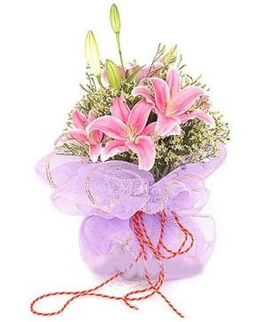 3 dal kazablanka görsel buketi  Bartın internetten çiçek satışı