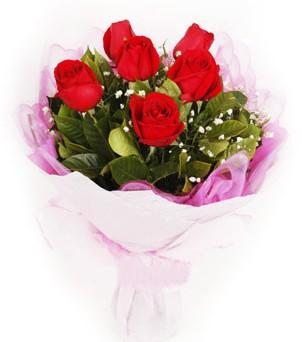 Bartın hediye sevgilime hediye çiçek  kırmızı 6 adet gülden buket