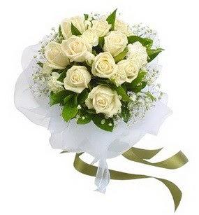 Bartın online çiçekçi , çiçek siparişi  11 adet benbeyaz güllerden buket