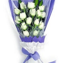 Bartın çiçekçi mağazası  11 adet beyaz gül buket modeli