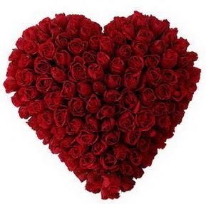 Bartın çiçekçi mağazası  muhteşem kırmızı güllerden kalp çiçeği