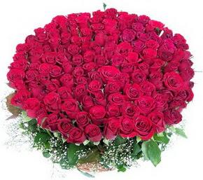 Bartın online çiçekçi , çiçek siparişi  100 adet kırmızı gülden görsel buket