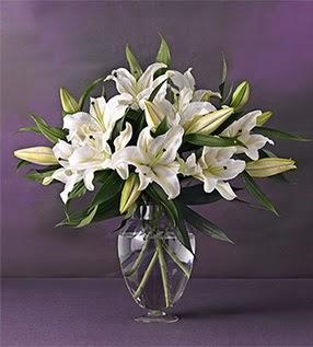 Bartın İnternetten çiçek siparişi  4 dal cazablanca vazo çiçeği
