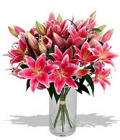 4 dal cazablanca görsel vazosu  Bartın çiçekçi mağazası