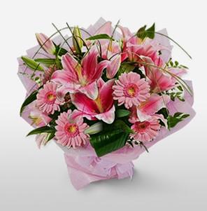 1 dal kazablanka ve kır çiçek görsel buketi  Bartın internetten çiçek satışı