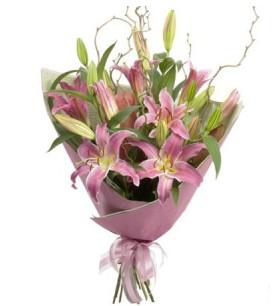 Bartın İnternetten çiçek siparişi  3 dal cazablanca buket çiçeği
