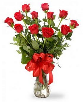 Bartın çiçek , çiçekçi , çiçekçilik  12 adet kırmızı güllerden vazo tanzimi