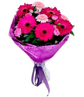 Bartın çiçek siparişi sitesi  karışık gerbera çiçeği buketi